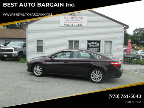 2014 Toyota Avalon for sale at BEST AUTO BARGAIN inc. in Lowell MA
