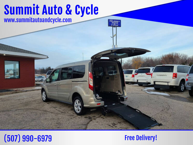 2015 Ford Transit Connect Wagon for sale at Summit Auto & Cycle in Zumbrota MN