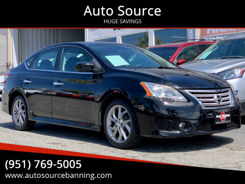 2013 Nissan Sentra for sale at Auto Source in Banning CA