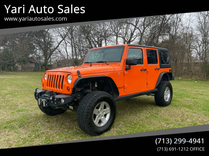 2012 Jeep Wrangler Unlimited for sale at Yari Auto Sales in Houston TX