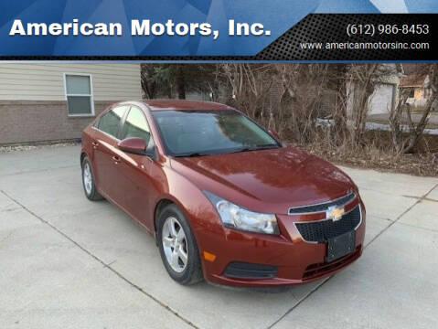 2012 Chevrolet Cruze for sale at American Motors, Inc. in Farmington MN