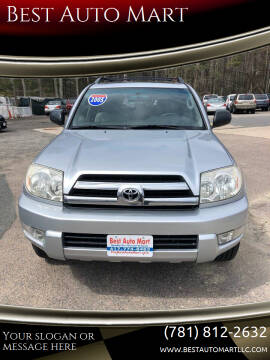2005 Toyota 4Runner for sale at Best Auto Mart in Weymouth MA