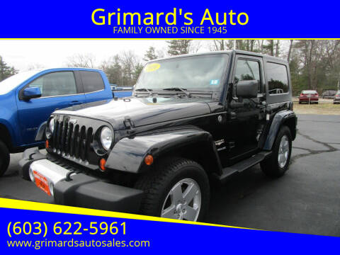 2010 Jeep Wrangler for sale at Grimard's Auto in Hooksett, NH