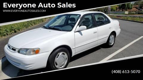 1998 Toyota Corolla for sale at Everyone Auto Sales in Santa Clara CA