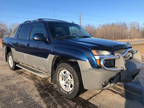 2002 Chevrolet Avalanche for sale at Sunshine Auto Sales in Menasha WI