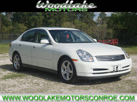 2004 Infiniti G35 for sale at WOODLAKE MOTORS in Conroe TX