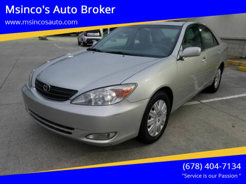 2003 Toyota Camry for sale at Msinco's Auto Broker in Snellville GA