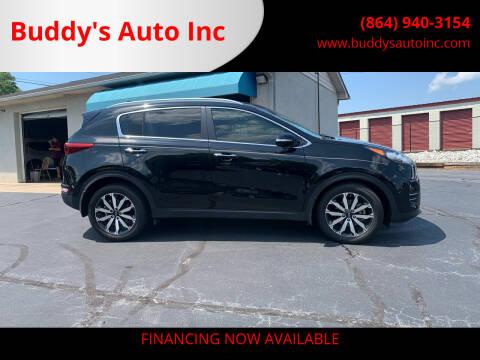 2018 Kia Sportage for sale at Buddy's Auto Inc in Pendleton, SC