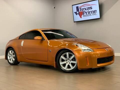 2003 Nissan 350Z for sale at Texas Prime Motors in Houston TX