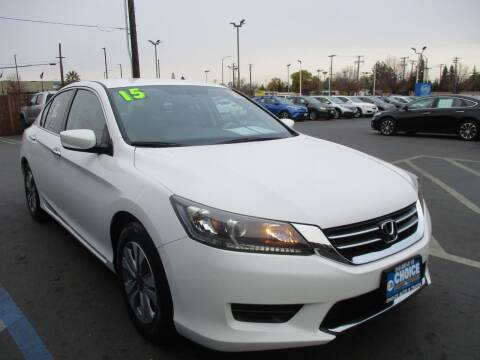 2015 Honda Accord for sale at Choice Auto & Truck in Sacramento CA