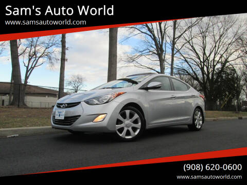 2013 Hyundai Elantra for sale at Sam's Auto World in Roselle NJ