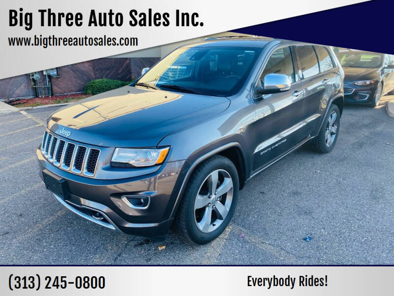 2015 Jeep Grand Cherokee for sale at Big Three Auto Sales Inc. in Detroit MI