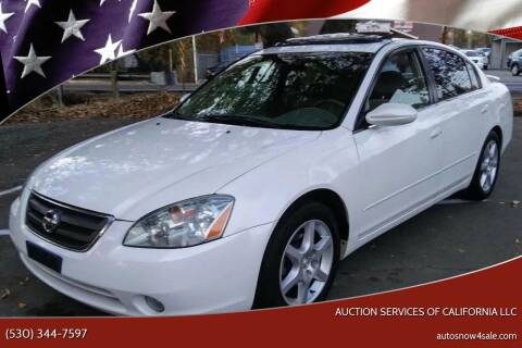 2002 Nissan Altima for sale at AUCTION SERVICES OF CALIFORNIA in El Dorado CA