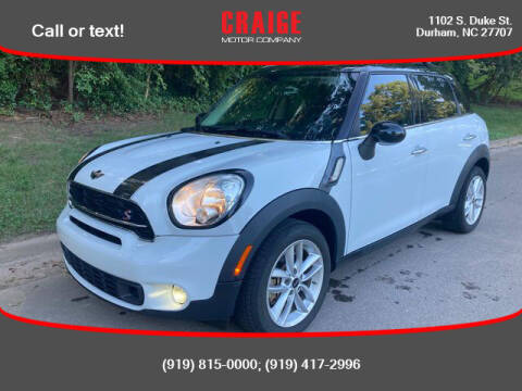 2015 MINI Countryman for sale at CRAIGE MOTOR CO in Durham NC