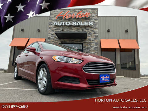 2015 Ford Fusion for sale at HORTON AUTO SALES, LLC in Linn MO