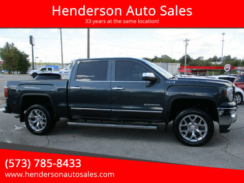 2018 GMC Sierra 1500 for sale at Henderson Auto Sales in Poplar Bluff MO