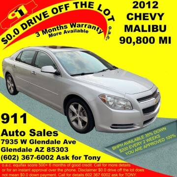 2012 Chevrolet Malibu for sale at 911 AUTO SALES LLC in Glendale AZ