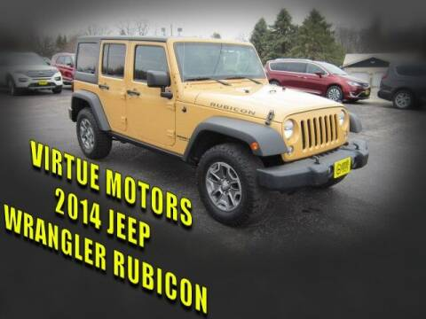 2014 Jeep Wrangler Unlimited for sale at Virtue Motors in Darlington WI