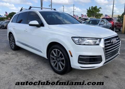 2017 Audi Q7 for sale at AUTO CLUB OF MIAMI in Miami FL