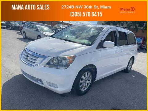 2008 Honda Odyssey for sale at MANA AUTO SALES in Miami FL
