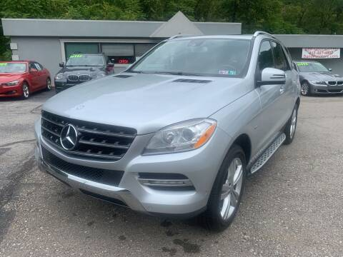 2012 Mercedes-Benz M-Class for sale at B & P Motors LTD in Glenshaw PA