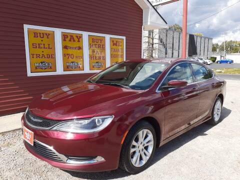 2015 Chrysler 200 for sale at Mack's Autoworld in Toledo OH