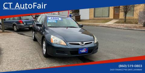2007 Honda Accord for sale at CT AutoFair in West Hartford CT