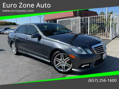 2010 Mercedes-Benz E-Class for sale at Euro Zone Auto in Stanton CA