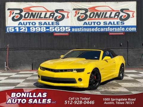 2015 Chevrolet Camaro for sale at Bonillas Auto Sales in Austin TX