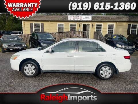 2005 Honda Accord for sale at Raleigh Imports in Raleigh NC