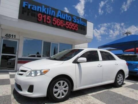 2013 Toyota Corolla for sale at Franklin Auto Sales in El Paso TX