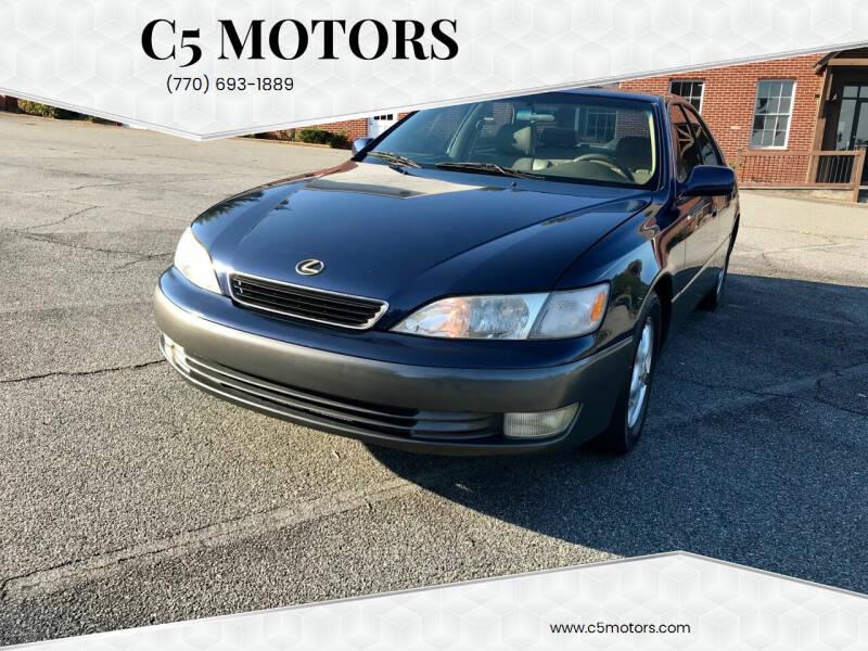 1999 Lexus ES 300 for sale at C5 Motors in Marietta GA
