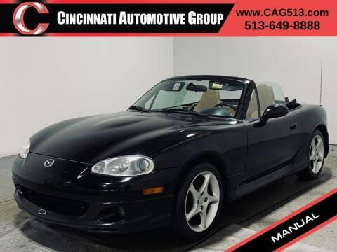 2001 Mazda MX-5 Miata for sale at Cincinnati Automotive Group in Lebanon OH