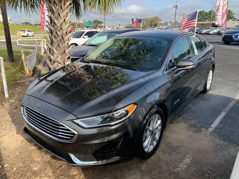 2019 Ford Fusion Hybrid for sale at Sun Coast City Auto Sales in Mobile AL