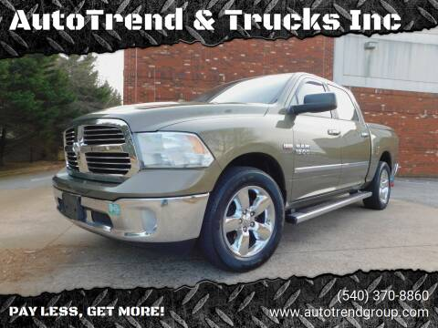 2013 RAM Ram Pickup 1500 for sale at AutoTrend & Trucks Inc in Fredericksburg VA
