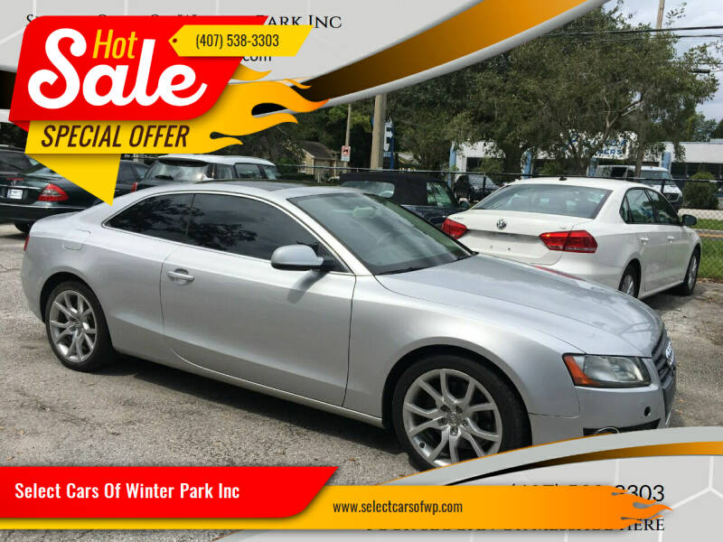 2011 Audi A5 for sale at Select Cars Of Winter Park Inc in Orlando FL