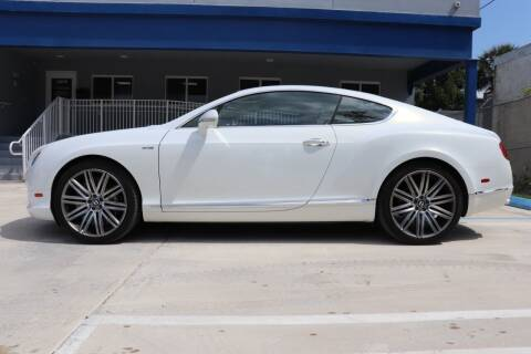 2014 Bentley Continental for sale at PERFORMANCE AUTO WHOLESALERS in Miami FL