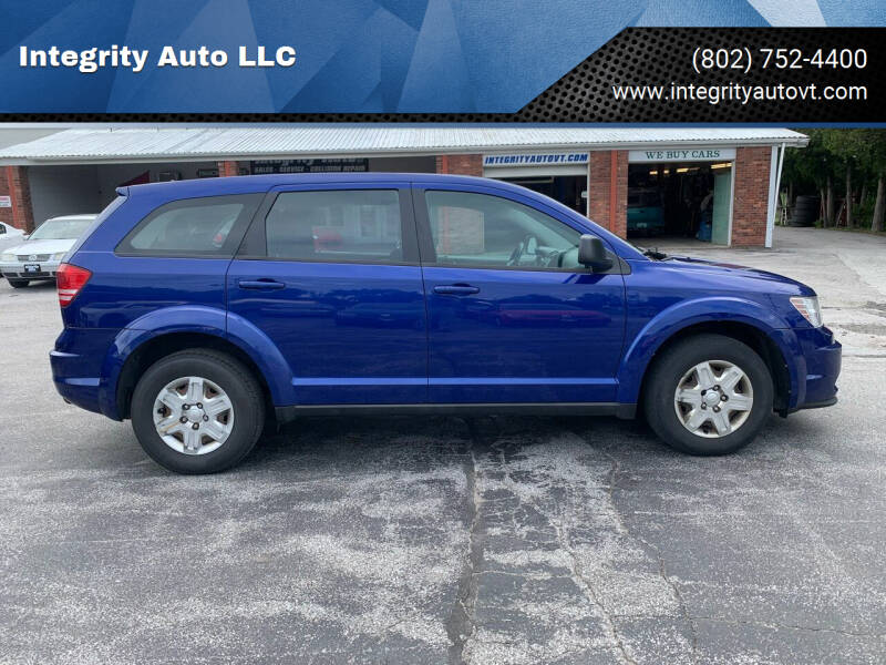 2012 Dodge Journey for sale at Integrity Auto LLC - Integrity Auto 2.0 in St. Albans VT