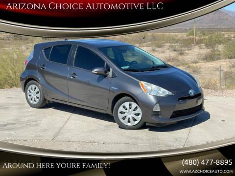2012 Toyota Prius c for sale at Arizona Choice Automotive LLC in Mesa AZ