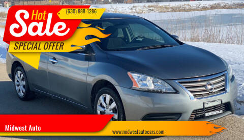 2015 Nissan Sentra for sale at Midwest Auto in Naperville IL