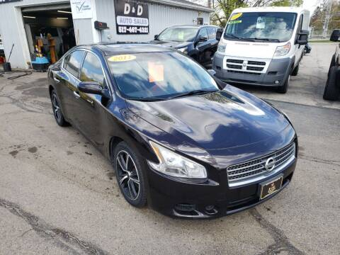 2011 Nissan Maxima for sale at D & D Auto Sales Of Onsted in Onsted   Brooklyn MI