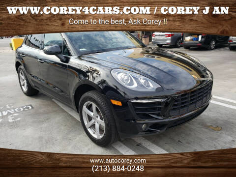 2018 Porsche Macan for sale at WWW.COREY4CARS.COM / COREY J AN in Los Angeles CA