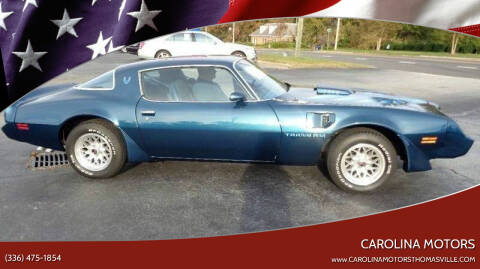 1979 Pontiac Trans Am for sale at CAROLINA MOTORS - Carolina Classics & More-Thomasville in Thomasville NC