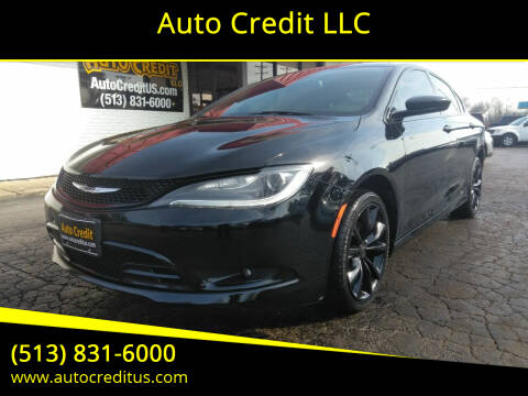 2015 Chrysler 200 for sale at Auto Credit LLC in Milford OH