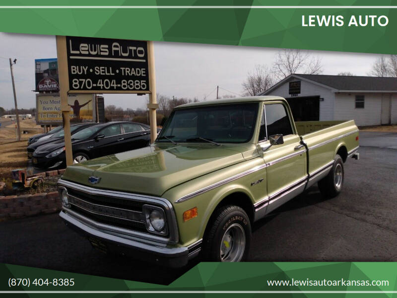 1969 Chevrolet C/K 10 Series for sale at LEWIS AUTO in Mountain Home AR