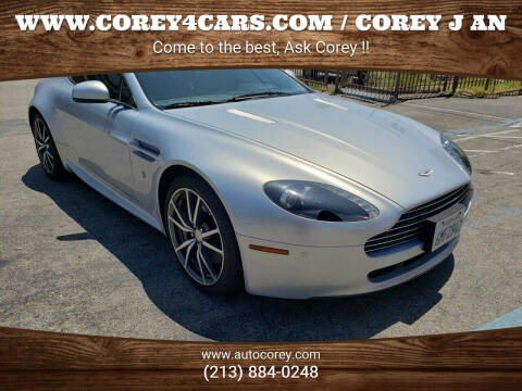2010 Aston Martin V8 Vantage for sale at WWW.COREY4CARS.COM / COREY J AN in Los Angeles CA