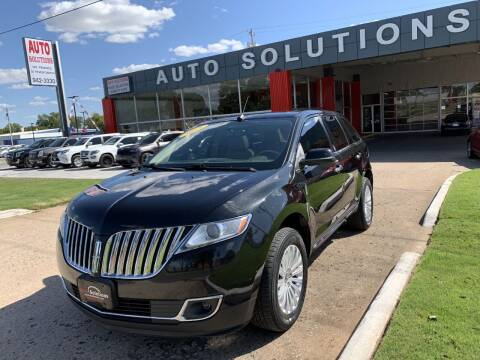 2015 Lincoln MKX for sale at Auto Solutions in Warr Acres OK