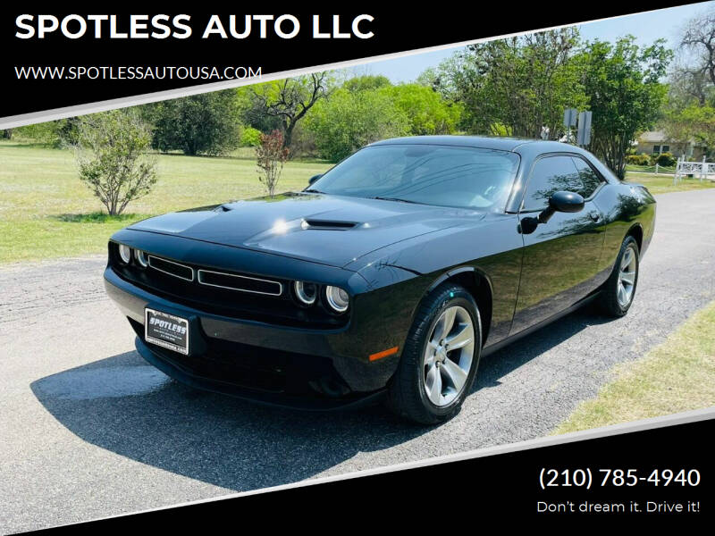 2017 Dodge Challenger for sale at SPOTLESS AUTO LLC in San Antonio TX