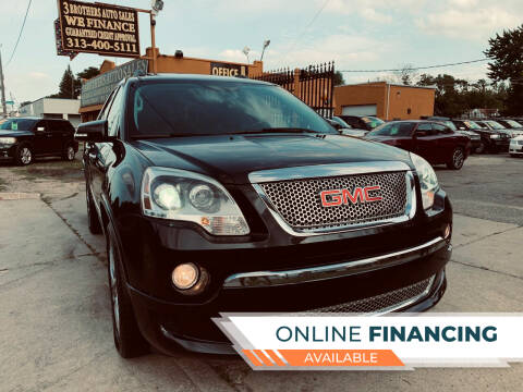 2012 GMC Acadia for sale at 3 Brothers Auto Sales Inc in Detroit MI