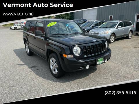 2013 Jeep Patriot for sale at Vermont Auto Service in South Burlington VT
